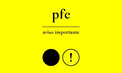 Aviso Importante PFC