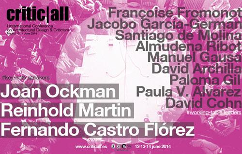 critic|all I International Conference on Architectural Design & Criticism