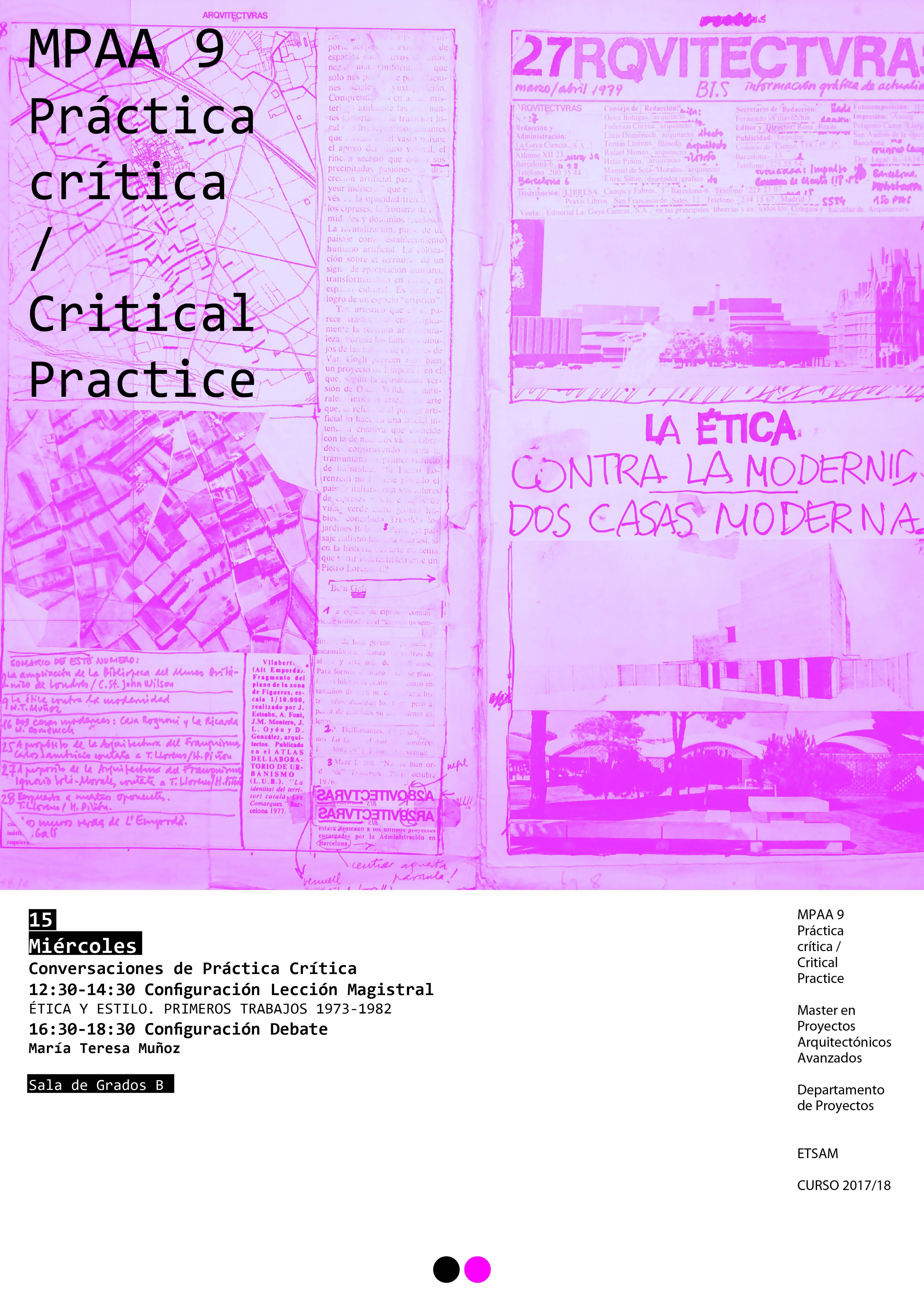 Cartel María Teresa Muñoz ÉTICA Y ESTILO. PRIMEROS TRABAJOS 1973-1982