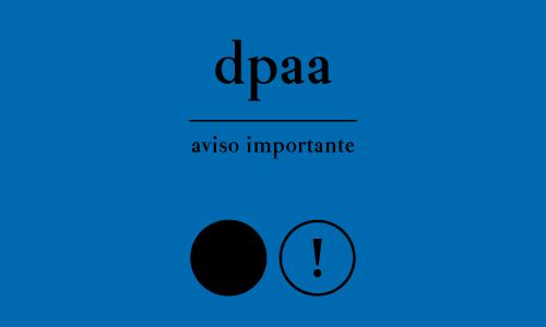 Aviso Importante DPAA