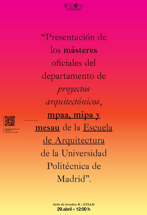 Presentacin Másteres DPA 2014 2015